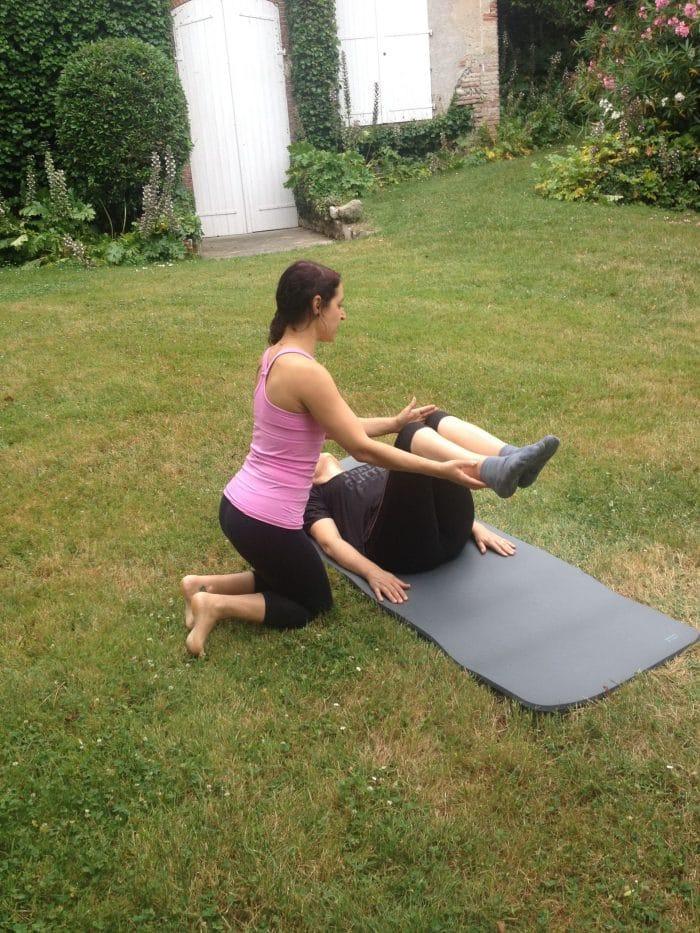 Cours de Pilates à domicile Adeline Pilates